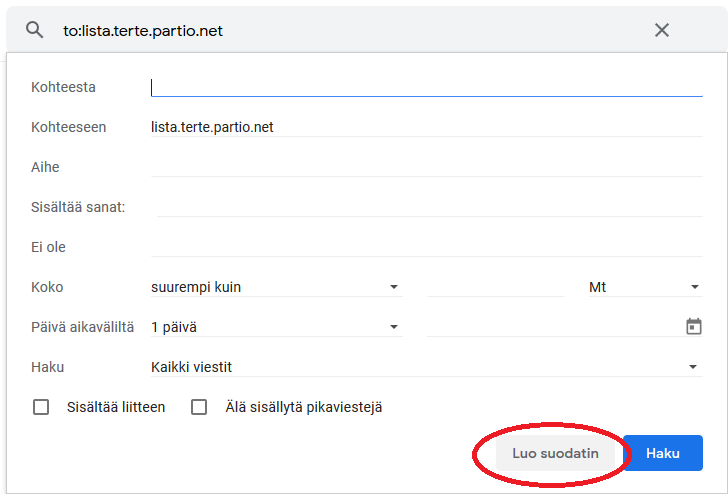 Gmail Roskapostikansio